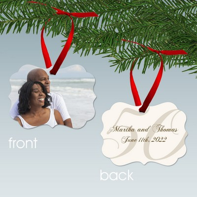 50th Anniversary Benelux Style Personalized Aluminum Ornament