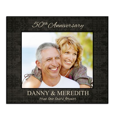 50th Anniversary Floral Pattern Personalized 8x10 Picture Frame