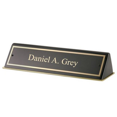 Black Piano Finished Nameplate