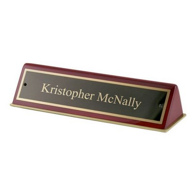 Rosewood Piano Finished Nameplate