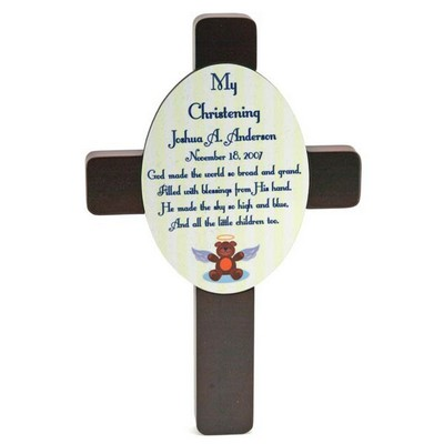 My Christening Baptism Cross Plaque