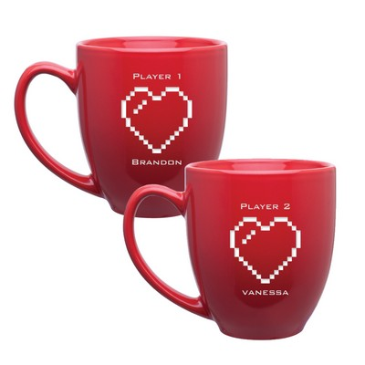 8-Bit Hearts Personalized Mug Set for Couples