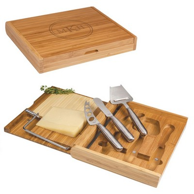 Monogrammed Bamboo Cheese Board