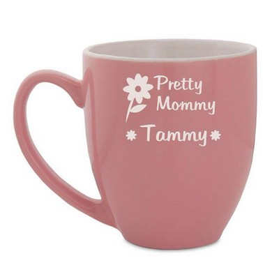 Pretty Mommy Personalized Pink Bistro Mug