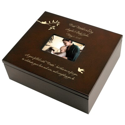 First Mothers Day Personalized Keepsake Box with Frame