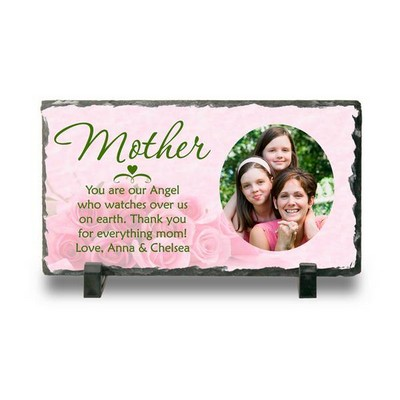 Personalized Photo Slate Plaque for Mother