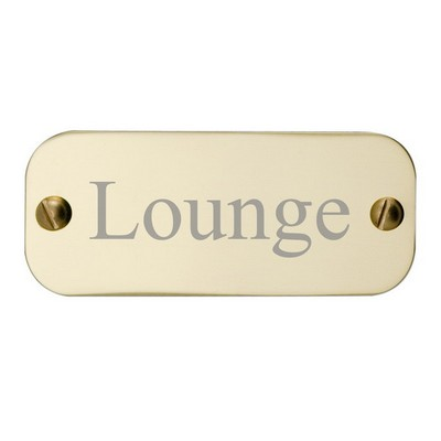 Brass Door Plate Rectangle 1-1/4 x 3