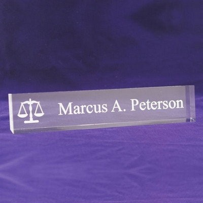 Legal Acrylic Desk Nameplate