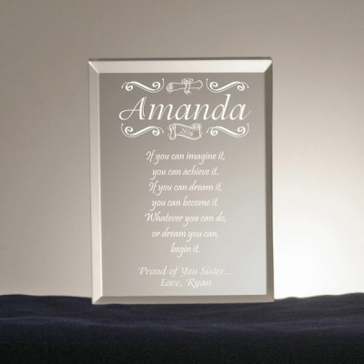 Congratulatory Personalized Graduation Gift Plaque