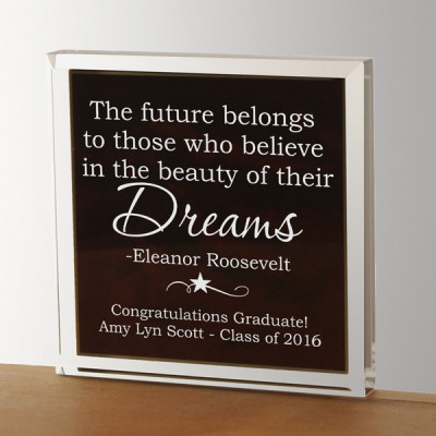 Graduate Inspirational Quote Paperweight