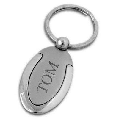 Lucky Silver Horseshoe Key Chain