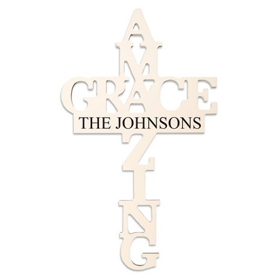 Amazing Grace Family Personalized Wall Cross