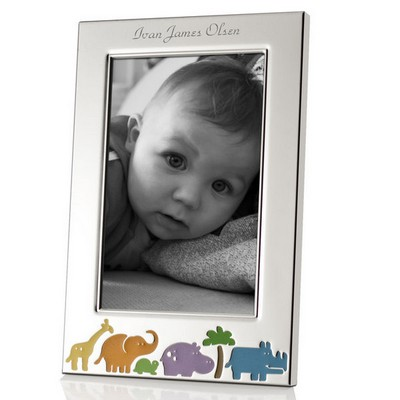 Animal Jungle Personalized 4x6 Baby Picture Frame
