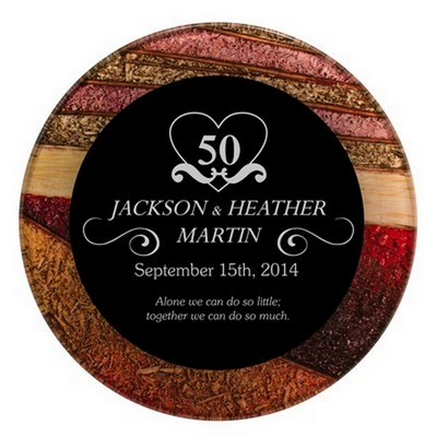 Personalized 50th Royal Anniversary Plaque