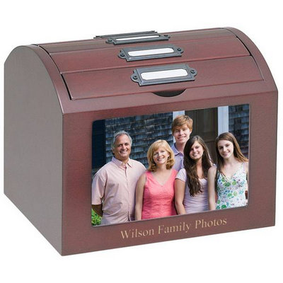 Personalized Deluxe Rosewood Photo Treasure Box
