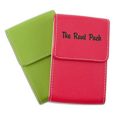 Bright Faux-Leather Business Card Holder