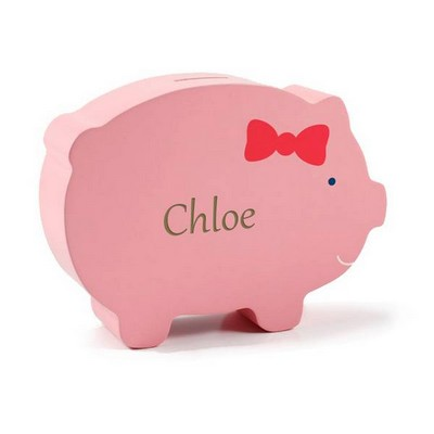 Personalized Wooden Piggy Bank