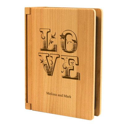 Babys First Christmas Personalized Maple Wood 4x6 Photo Album