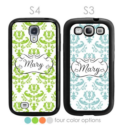 Beautiful Brocade Personalized Galaxy S3-S4 Case