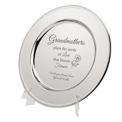 Beautiful Personalized Grandmother Silver Plate