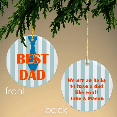 Best Dad Personalized Christmas Ornament