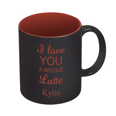 Black and Red Ceramic 11oz Coffee Mug