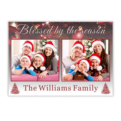 Blessed Season Family Photo Holiday Card