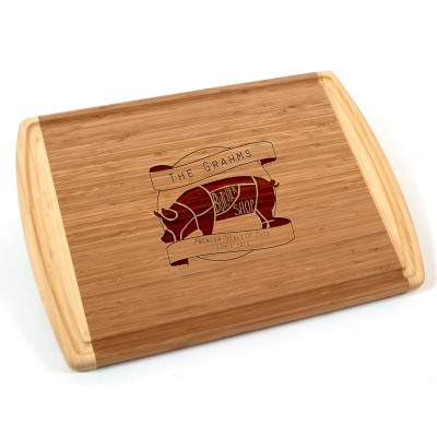 Butcher Shop Personalized Bamboo Cutting Board