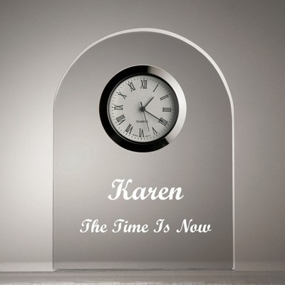 Distinctive Clear Dome Clock