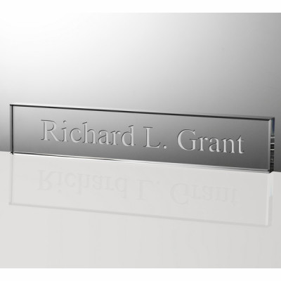 Personalized 12 inch Crystal Nameplate