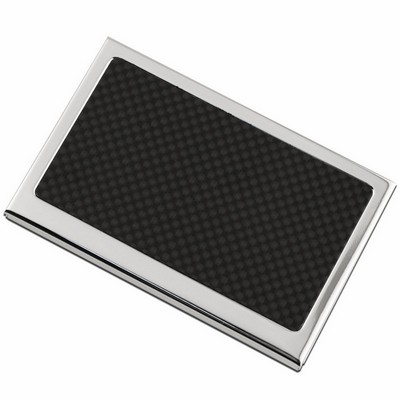 Personalized business card holders pocket business card cases black carbon fiber top personalized business card case colourmoves Choice Image