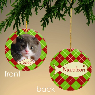Cat Personalized Photo Ornament