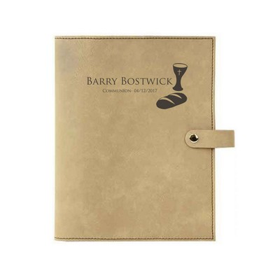 Communion Light Brown Leatherette Personalized Bible Book Cover