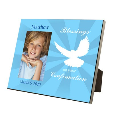 Confirmation Blessings Personalized 4x6 Photo Frame for Boys