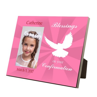 Confirmation Blessings Personalized 4x6 Photo Frame for Girls