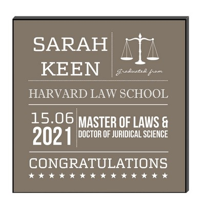 Congratulations Law School Graduate Wall Art Panel