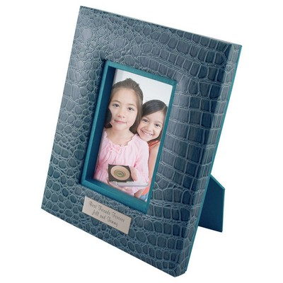 Cool Blue Croc Personalized 5x7 Frame