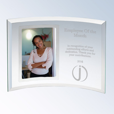 Curved Glass Silver 4x6 Achievement Picture Frame