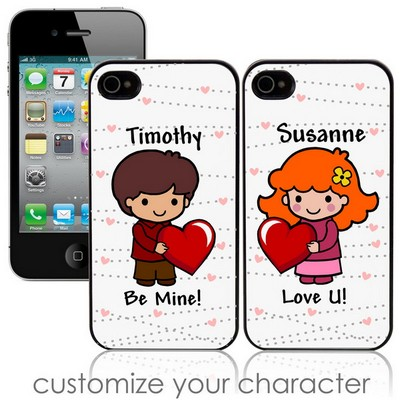 Be My Valentine Custom Character iPhone Case