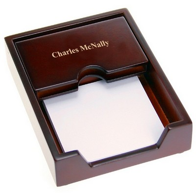 Premium Rosewood Business Card Holder