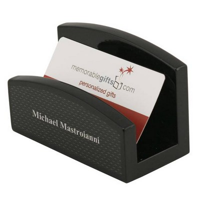 Personalized desk accessories black carbon fiber look desktop business card holder reheart Images