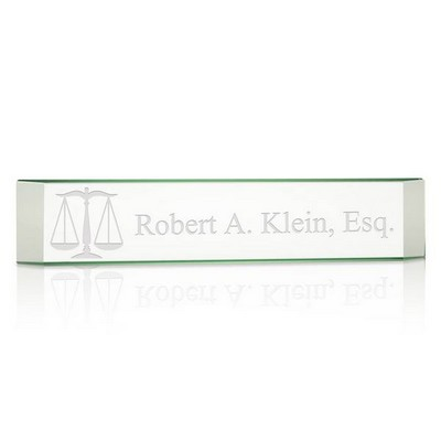 Personalized Name Plate for Lawyers with Legal Scales of Justice