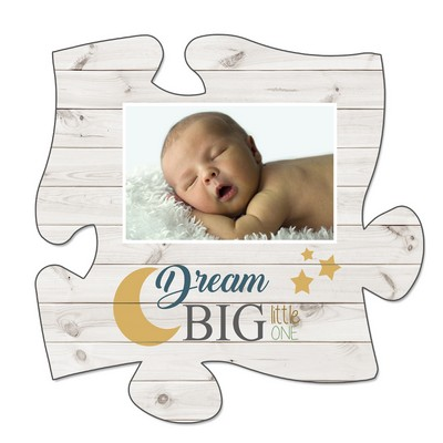 Dream Big Puzzle Wall Plaque with Baby's Picture