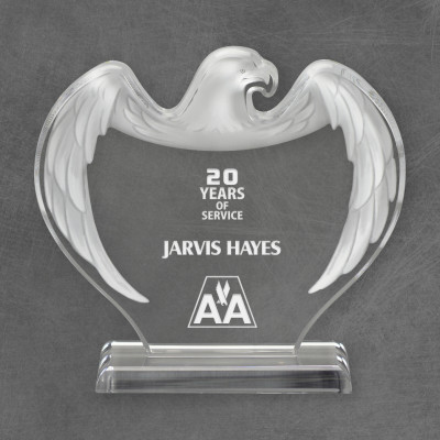 Engraved Acrylic Eagle Award