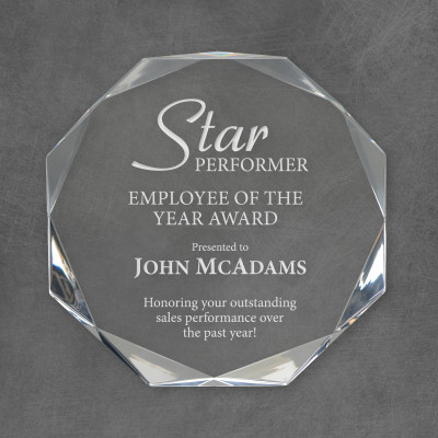 Star Performer Personalized Acrylic Award