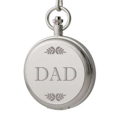 Engraved Silver Pocket Watch for Dad