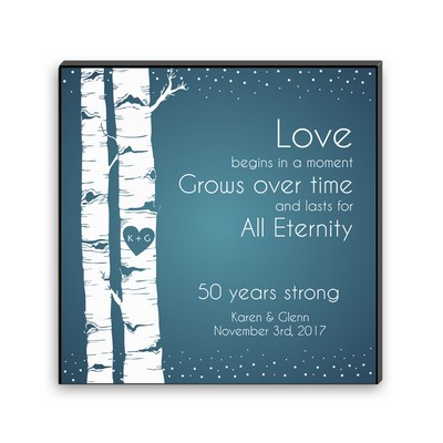 Eternal Love Carved Heart Wall Art Panel