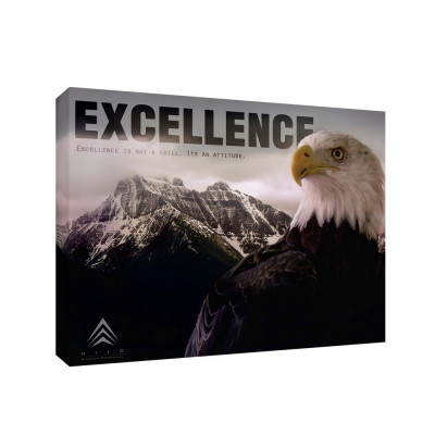 Excellence 11x14 Personalized Inspirational Wall Canvas