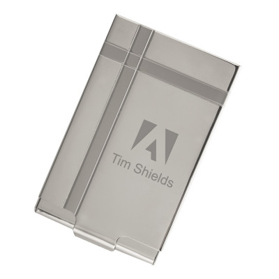 executive silver metal business card case - Silver Business Card Holder