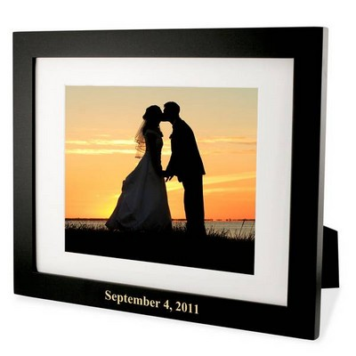 Black Wood Photo Frame with White Matting
